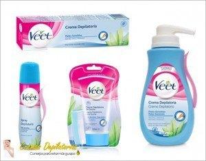 cremas depilatorias veet para pieles sensibles