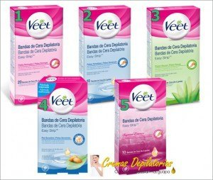 bandas de cera depilatoria veet easy strip