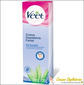crema depilatoria facial veet piel sensible